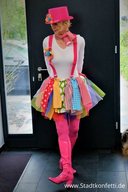 Unbeauftragte Werbung Super Easy Diy Last Minute Clown Kostum In