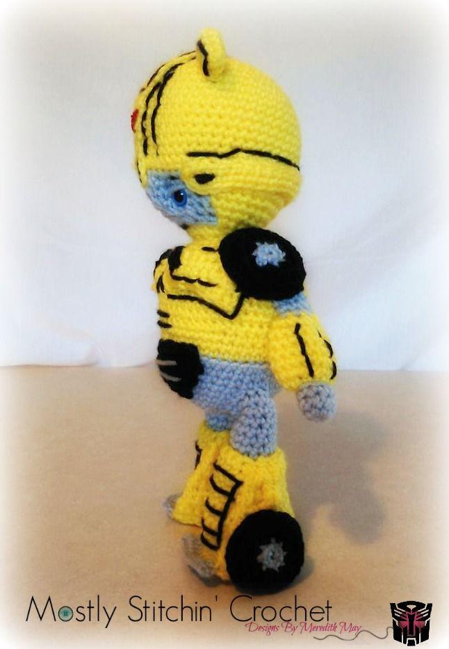 Crochet Transformer Plush Bumblebee   Crochet toys, Super Hero, Star ...