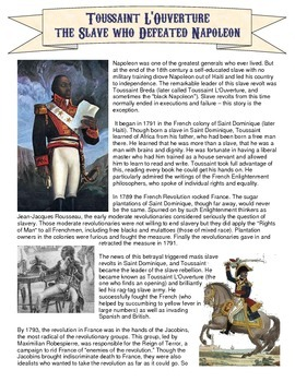 toussaint louverture reading and comic book project revolutionaries students and comic. Black Bedroom Furniture Sets. Home Design Ideas
