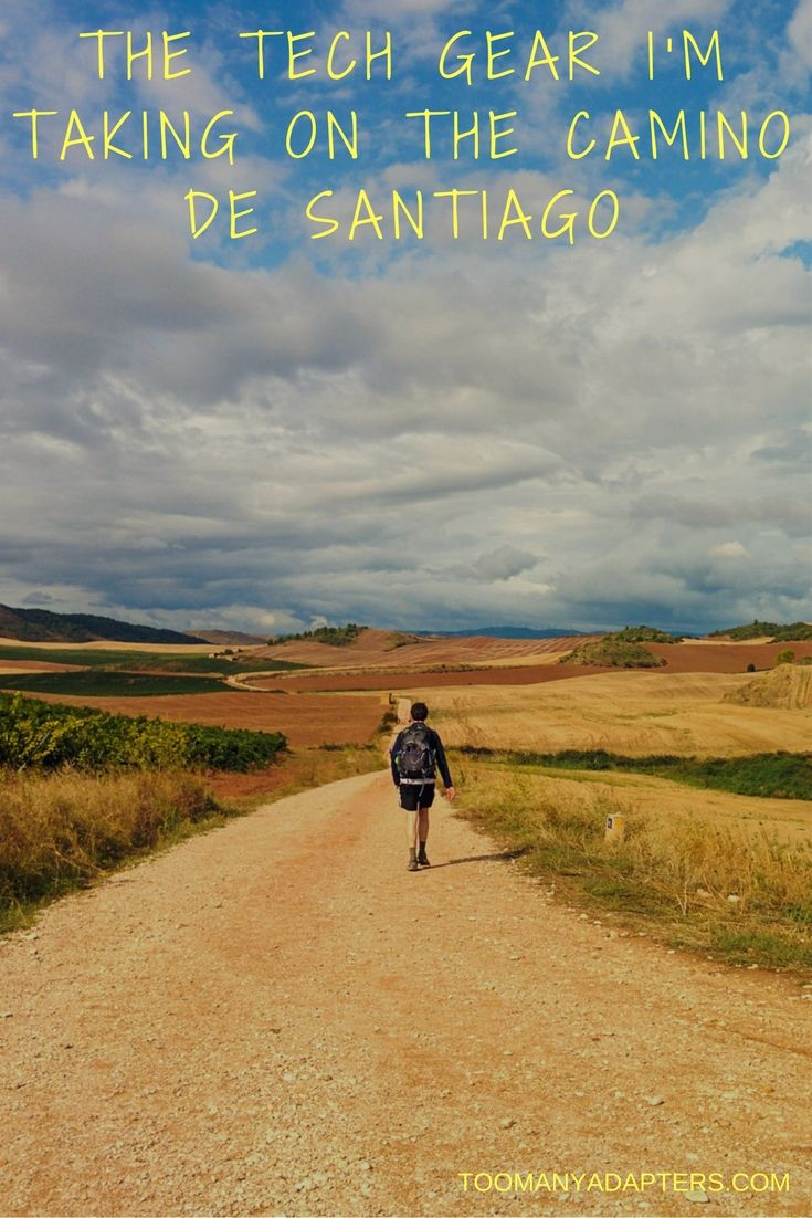 A complete list of the tech gear I'll be taking on the Camino de Santiago, a month-long walk across northern Spain. Less is definitely more in this case!