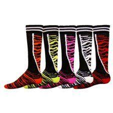 Red Lion Top Cat Socks - Volleyball Socks, Softball Socks, Soccer Socks- Zebra 12 Pack