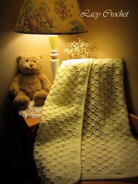 Lacy Crochet: Manta Lacy Tablero de ajedrez de bebé | Mantas De ...