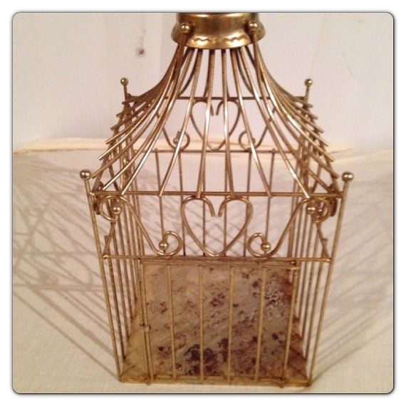 Ditto Vintage Brass Heart Birdcage By Home Interior By Msugirl05 On Etsy,  $16.00