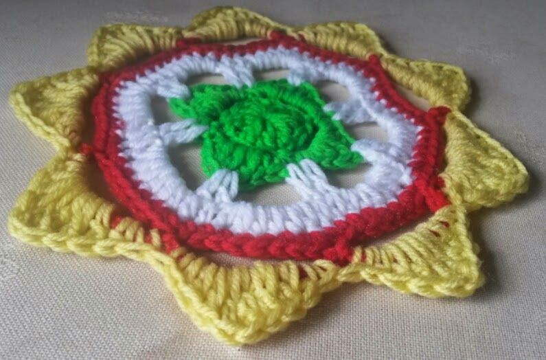 A very South African mandala. Free crochet pattern available on my ...