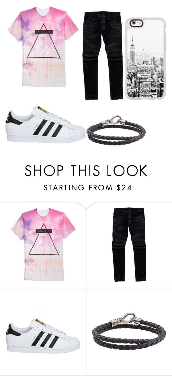 """""""rex"""" by raulsantiagosalcedogarcia ❤ liked on Polyvore featuring Univibe, Balmain, adidas, Tod's and Casetify"""