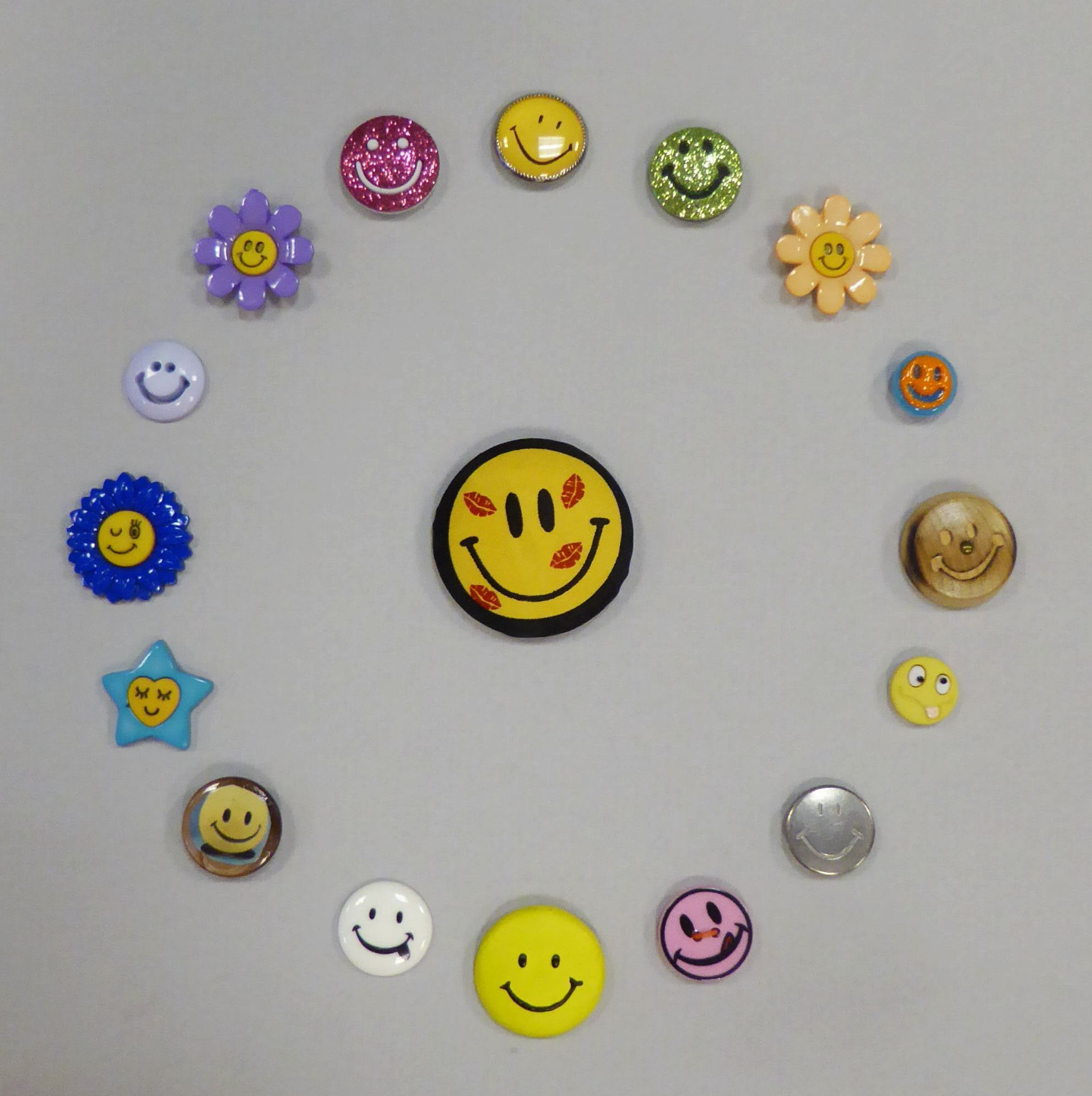 A smiley happy or smiling face is a stylized