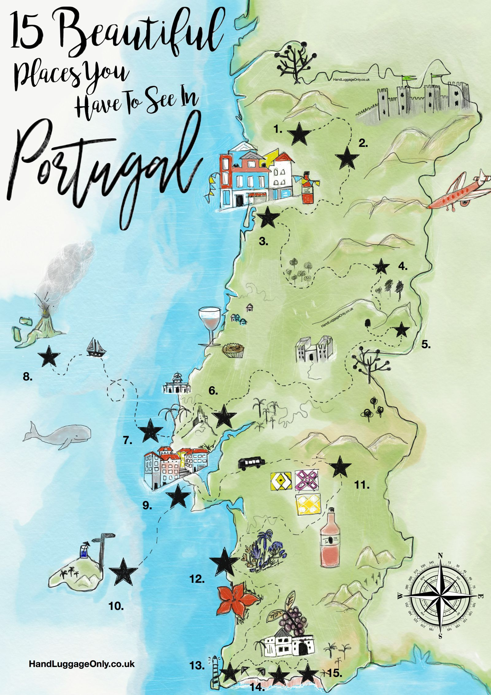 Stunning Places You Have To See In Portugal Portugal Cork - Portugal map sea
