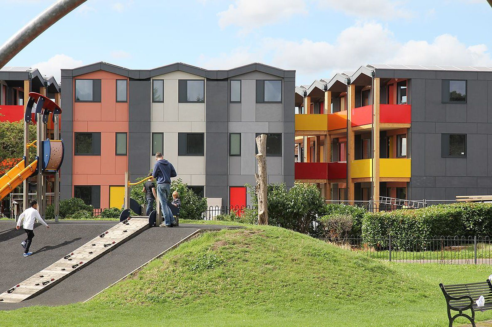 The Colorful Stackable Apartments Built For The Homeless Building Prefab Cabins Urban Planning