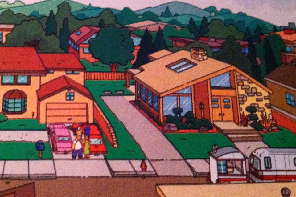 The Simpsons next door neighbors discovered their home to be a Neutra design in a recent episode