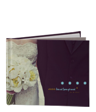 Guest Book for people to sign at the ceremony. It'd be worth keeping around! #Guestbook #photobook #Blurb