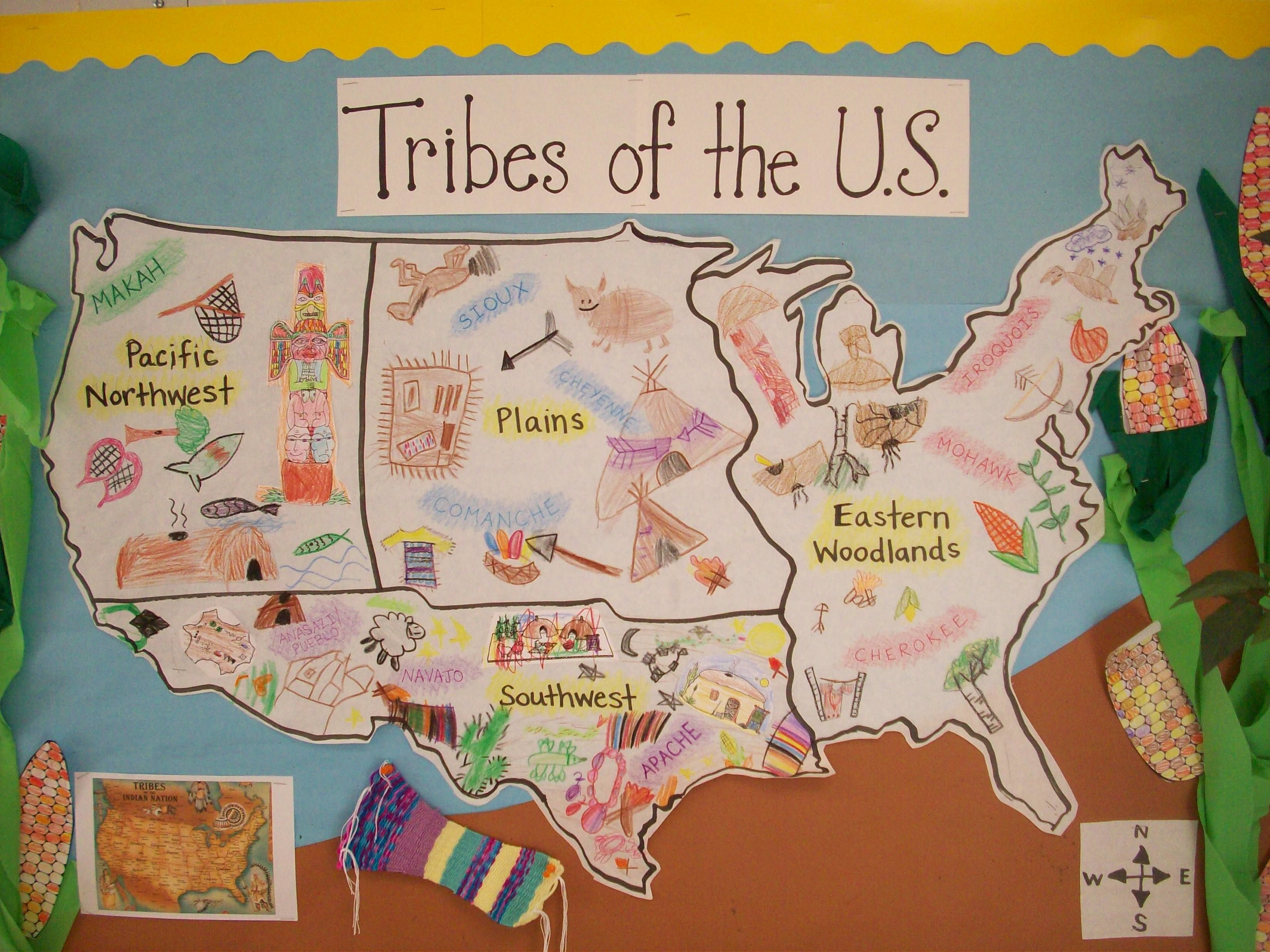first native americans map Google Search Social Studies