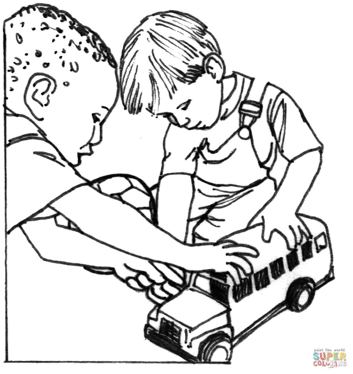7 Pics Of Children Sharing Coloring Pages Sharing Coloring Pages Coloring Pages Free Coloring Pages Cars Coloring Pages