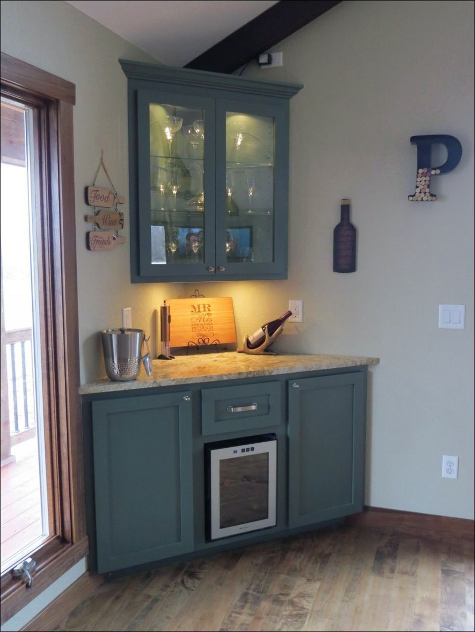 Kitchen Area In Residing Space With Club Counter Authentic