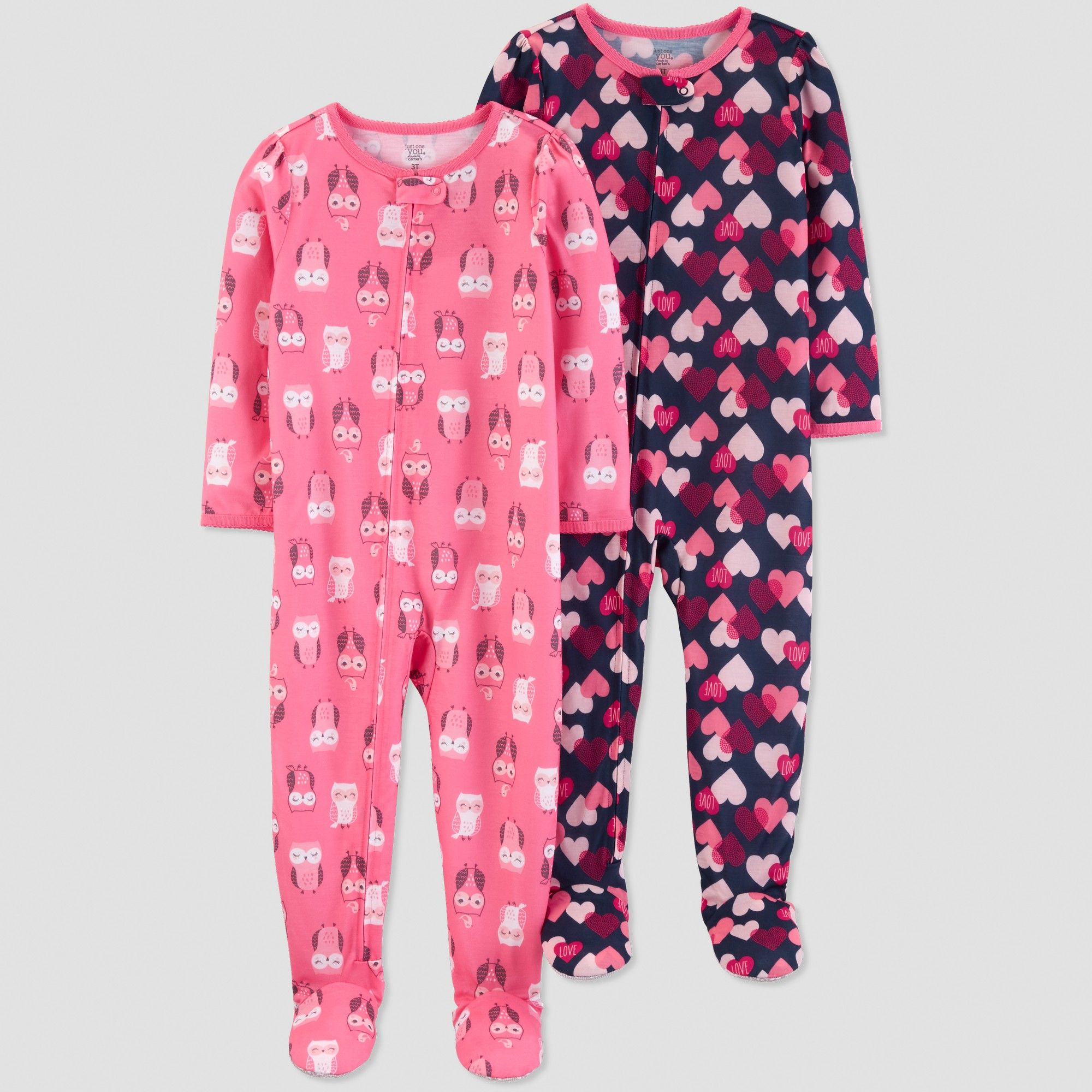 99261d2c9 Toddler Girls  Owls Pajama Set - Just One You made by carter s Pink ...