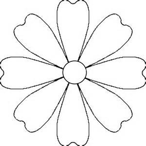 free printable flower templates to fold and cut into easy 6 petal
