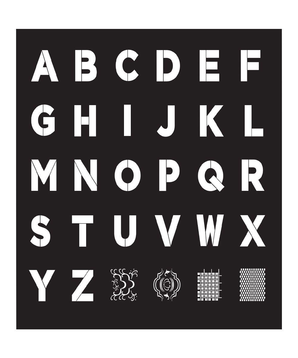 Bold Font Alphabet Stencil Sheet   Products   Bold fonts, Alphabet