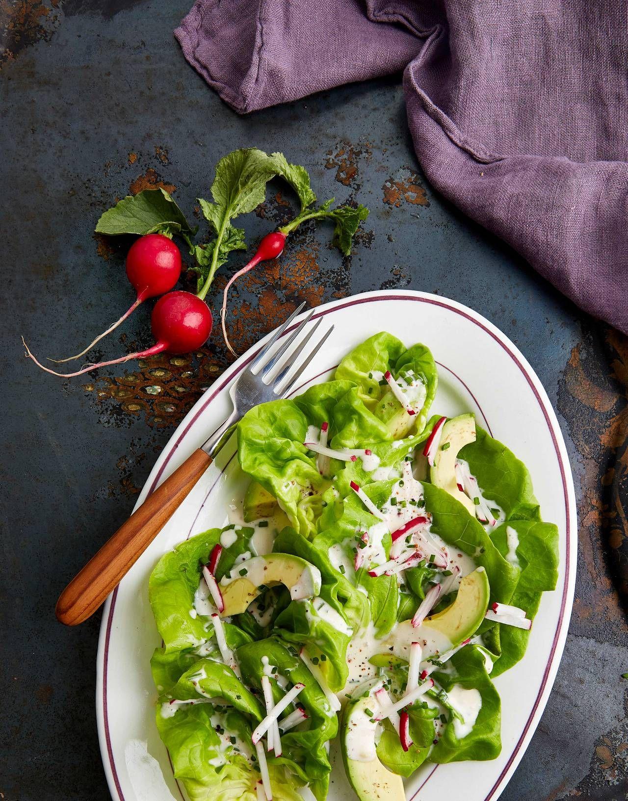 Bibb Lettuce Salad With Vegan Buttermilk Dressing The Blender Girl Bibb Lettuce Salad Recipe Lettuce Recipes Lettuce Salad Recipes