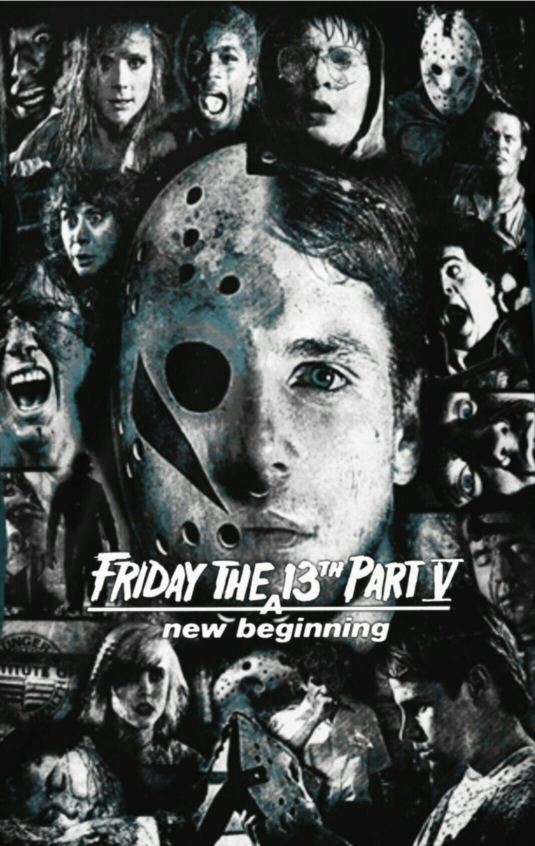 Friday The 13th Part 5 A New Beginning Horror Movie Slasher Fan Made Edit Horror Posters Horror Movie Characters Scary Movies