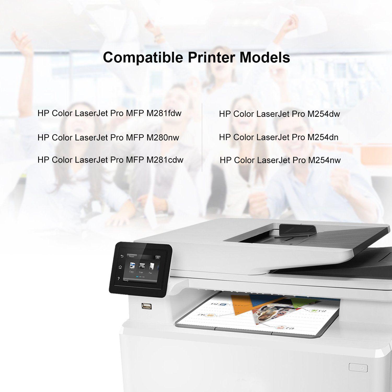 Mytoner Compatible Hp 202x Cf500x Cf501x Cf502x Cf503x Toner Cartridge For Use In Hp Laserjet M254 Mfp M280 M281high Yield 4 Packblackcyanyellow Ma Laser Printer
