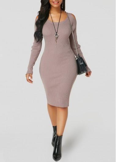 df9b83c33a  falloutfits  AdoreWe  Rotita -  unsigned Round Neck Cutout Sleeve Sweater  Dress - AdoreWe.com