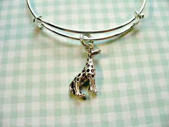 Cute Giraffe Silver Bangle Bracelet Alex And Ani By Designsbysuzze