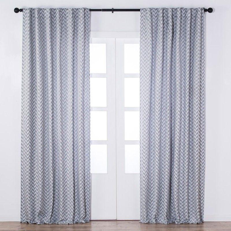 LILLEMOR Jacquard Lined Curtain (Grey) | Curtains | JYSK Canada ...