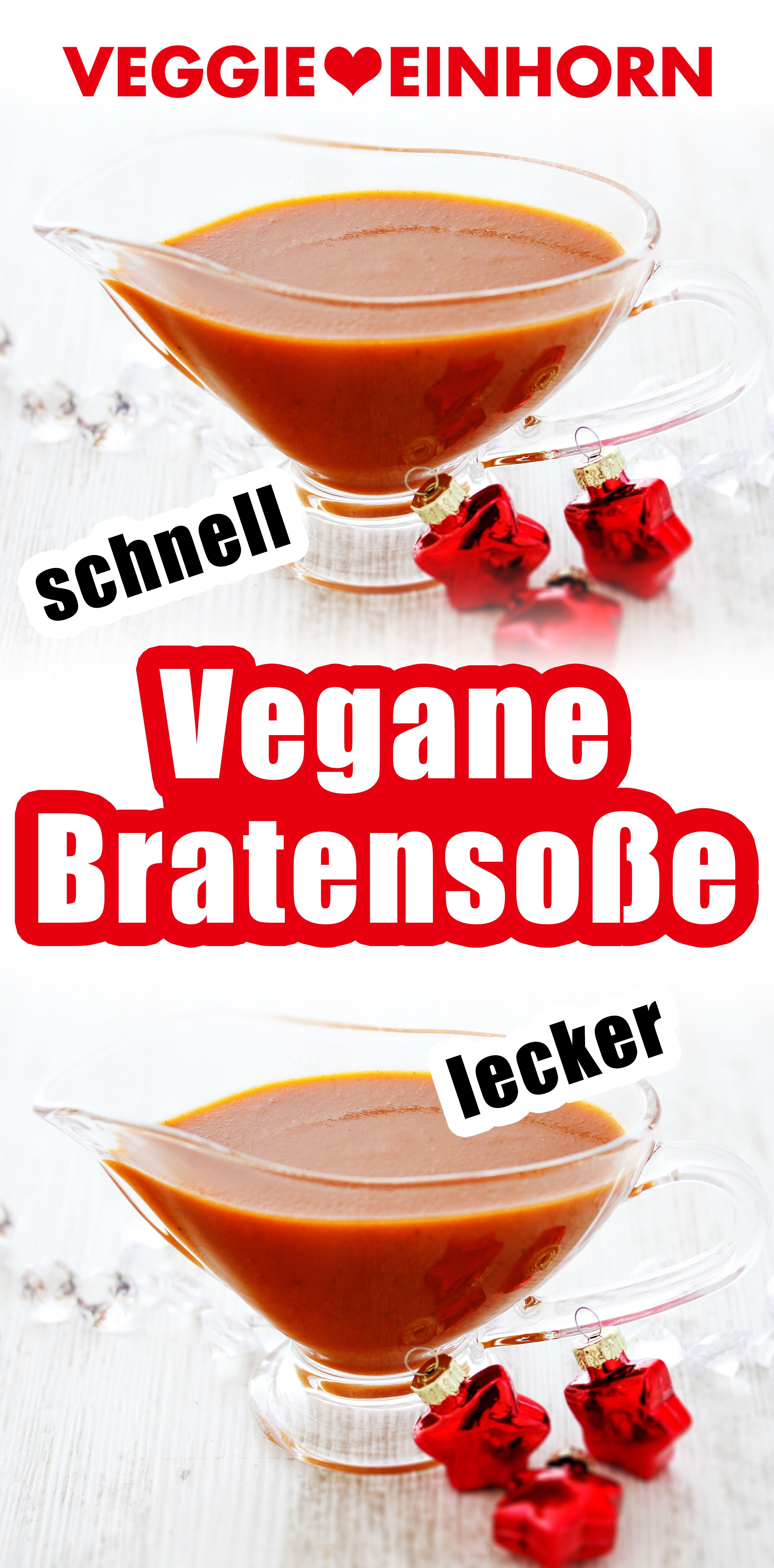 Vegane Bratensoße selber machen [Vegetarische Bratensauce ohne Fleisch] Schnell und super lecker