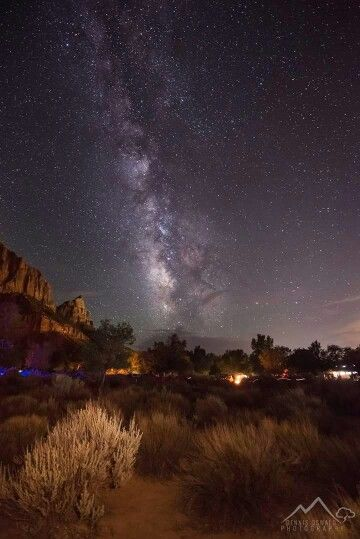 September ,2013. The Milky Way over Zion National park Utah