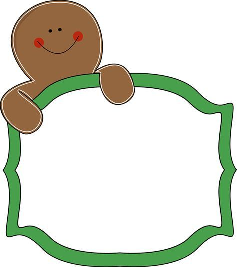 free gingerbread clip art borders great site for all kinds of free rh pinterest co uk
