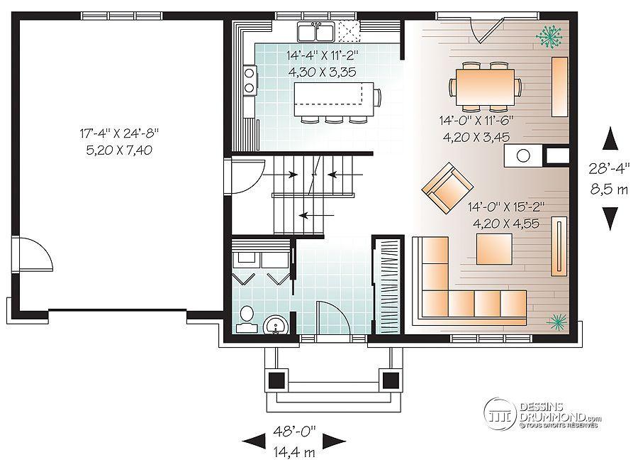 Détail du plan de Maison unifamiliale W2779-V1 house plan