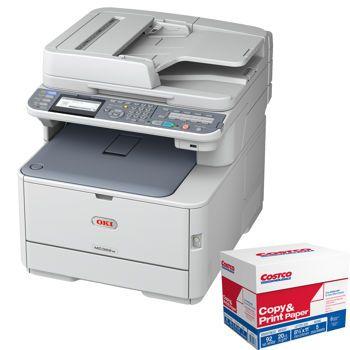 Costco Oki Mc362w Wireless Digital Led Hd Color Multifunction Printer Multifunction Printer Laser Printer Printer