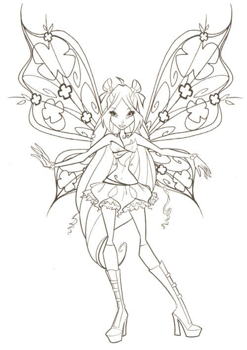 Beautiful Winx Club Coloring Pages