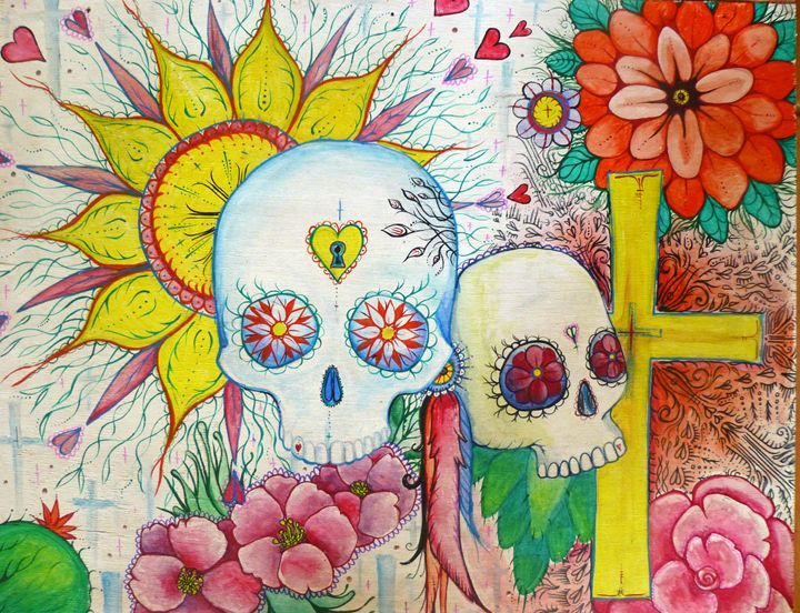 Mexican sugar skull tattoo art busyspider Sugar skull