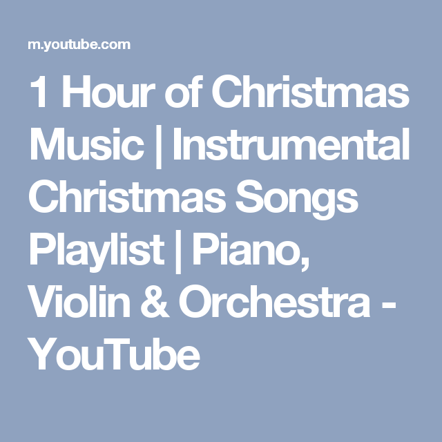 1 Hour of Christmas Music | Instrumental Christmas Songs Playlist ...