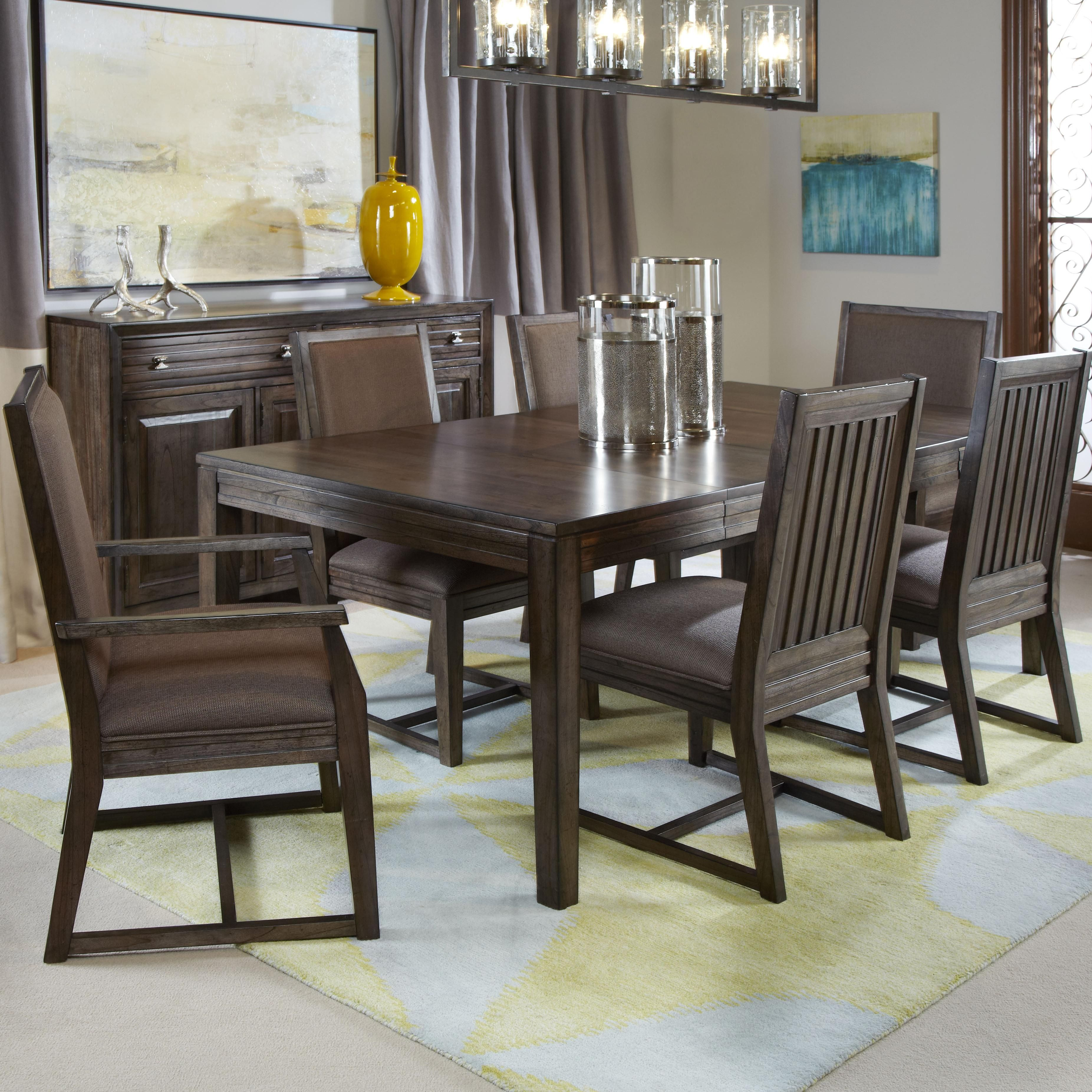 Montreat 7 Pc Formal Dining Set By Kincaid Furniture Solid Wood Dining Table Luxury Dining Room Dining Table