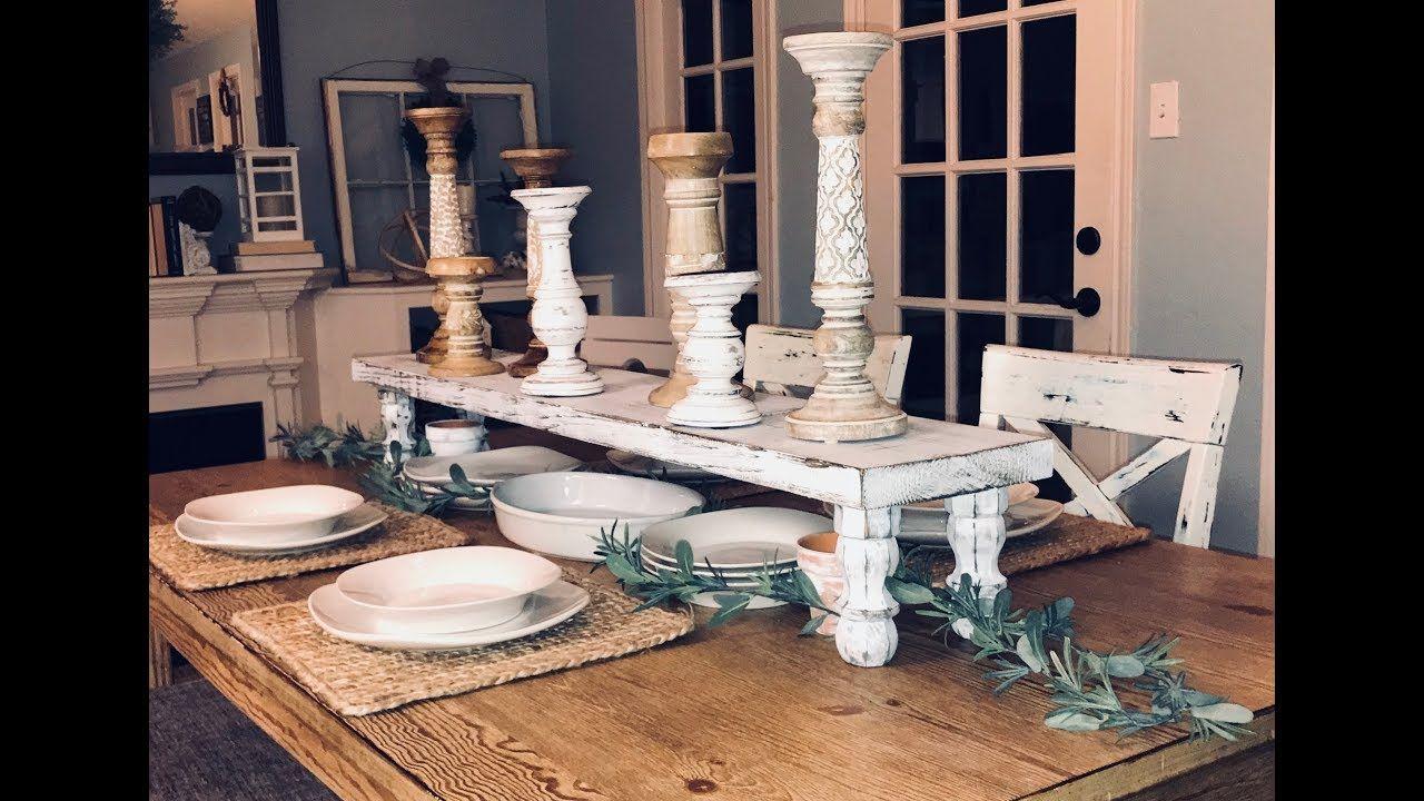 Diy Wood Table Riser Diy Wood Table Runner Farmhouse
