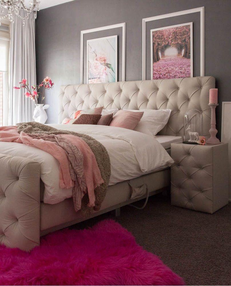 nachtkastje majesty maakt een vrouwelijke en romantische slaapkamer helemaal af