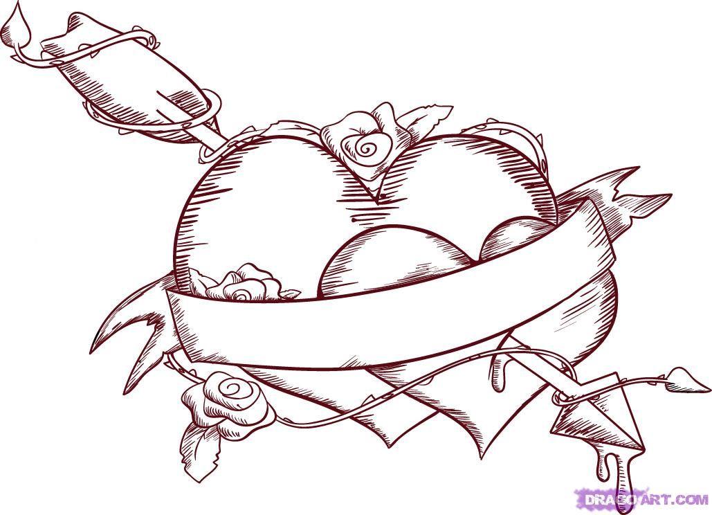 Emo Love Coloring Pages Emo Love Coloring Pages Graffiti Heart Drawings For Boyfriend Heart Drawing
