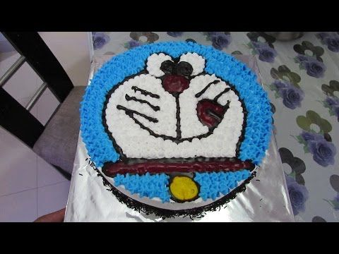 Eggless Doraemon Cake for Children in Hindi Cake Decoration