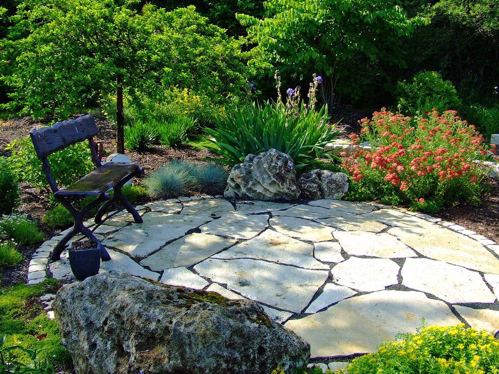 Amazing Delightful Flagstone Patio Decorating Ideas For Charming Landscape