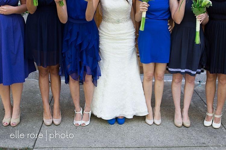 Midwest Weddings Bridesmaid Shoes Indianapolis Wedding Cole