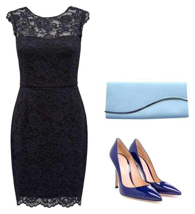 """vestido"" by gessilene-ferreira ❤ liked on Polyvore featuring Forever New, Gianvito Rossi and Giorgio Armani"