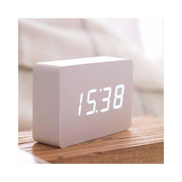 Brick White Click Clock White Led Clock White Clocks Alarm Clock