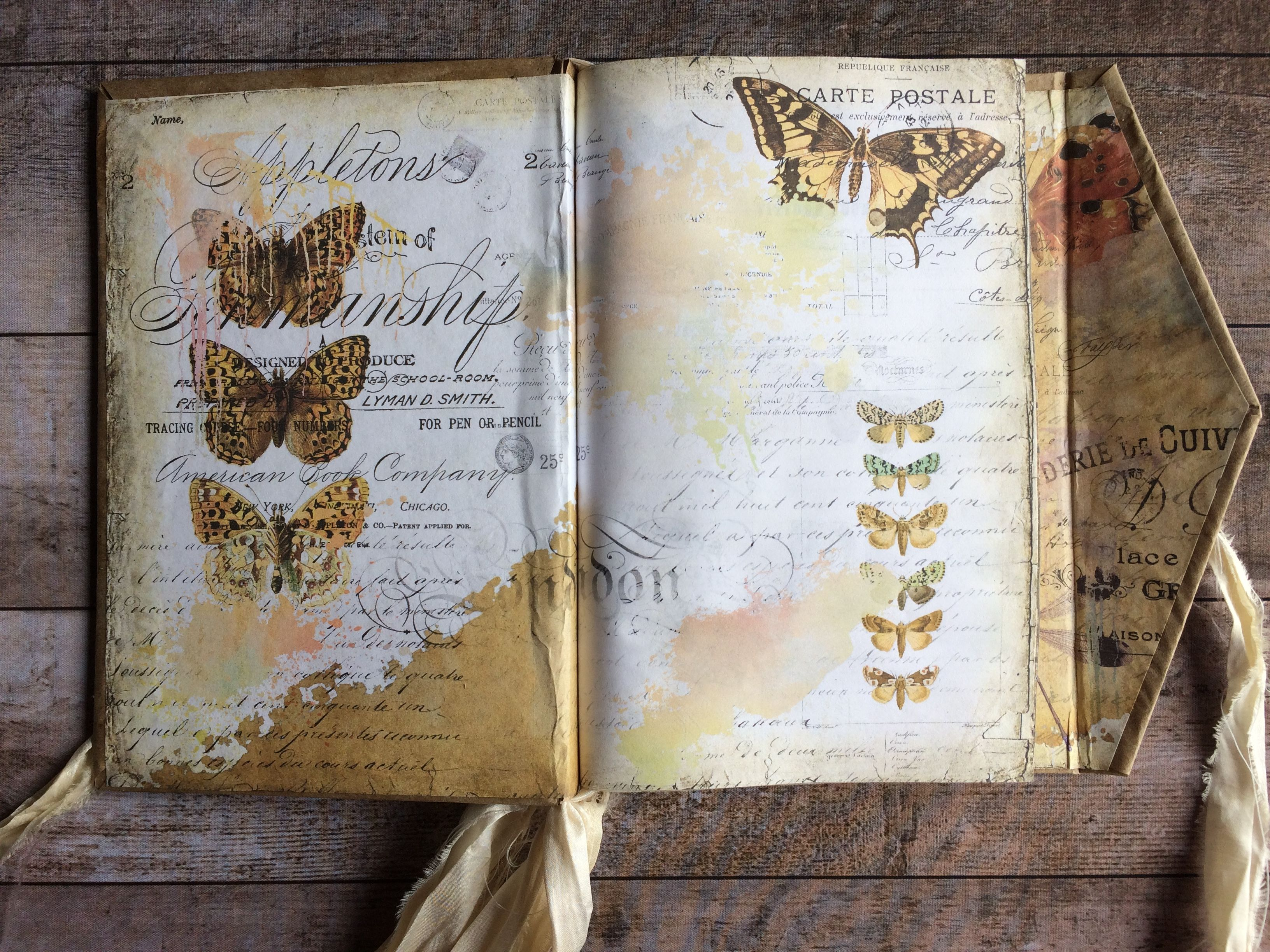 Butterfly Collage Sheet Journal Page Watercolor My Porch Etsy Art Journal Pages Collage Sheet Art Journal