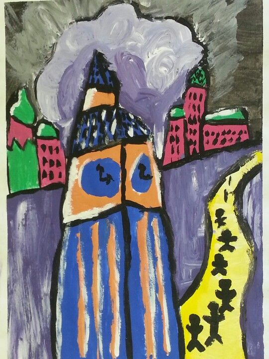 London as seen through the eyes of Kirchner. Lara, aged 13.