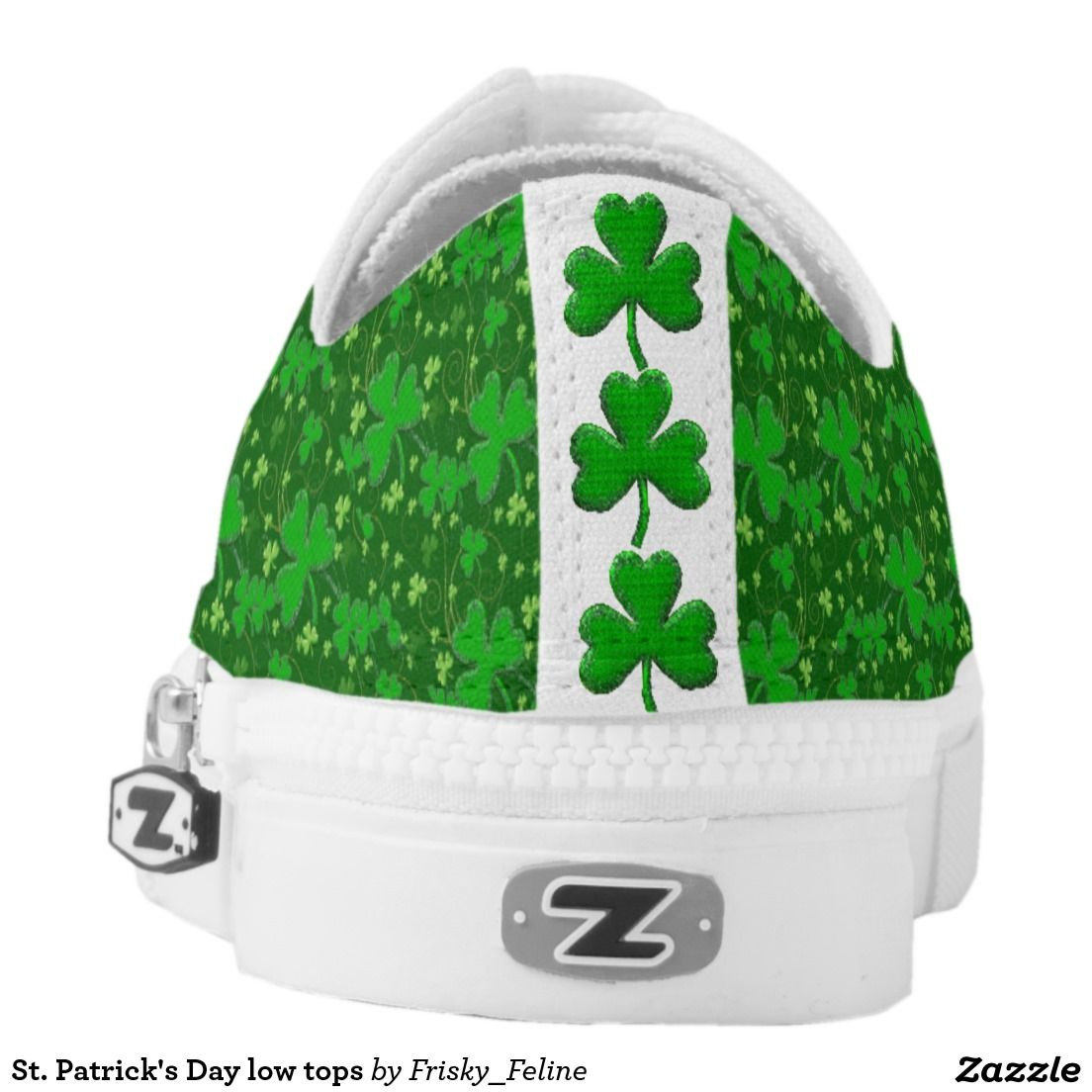 St. Patrick's Day low tops Printed Shoes