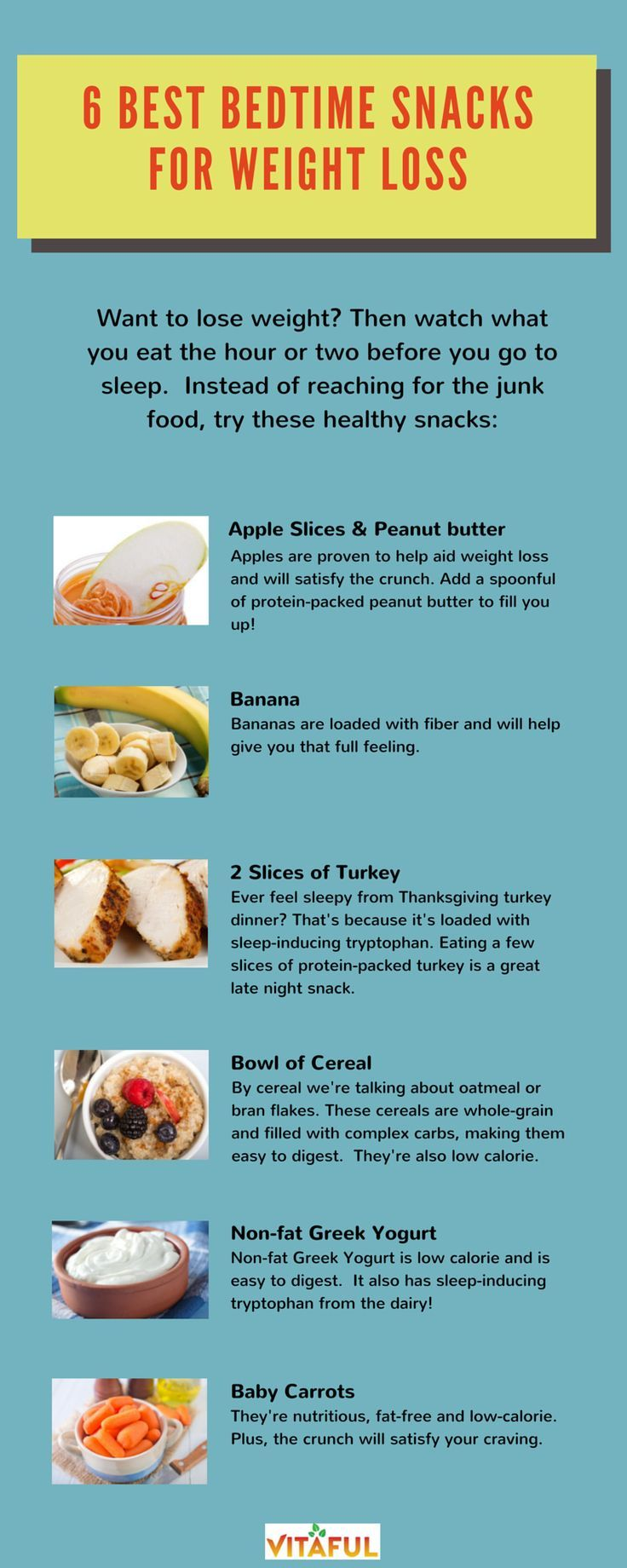 best weight loss food to eat before bed