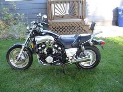 1994 Yamaha Vmax: The Black 1994 Yamaha Vmax Motorcycle for