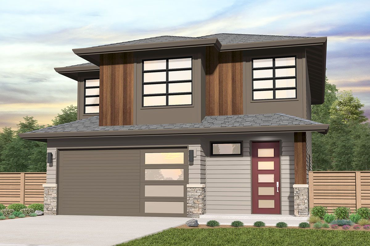 Plan 85312ms 3 Bed Modern Home Plan With All Bedrooms Upstairs Modern House Plans House Plans Architectural Design House Plans