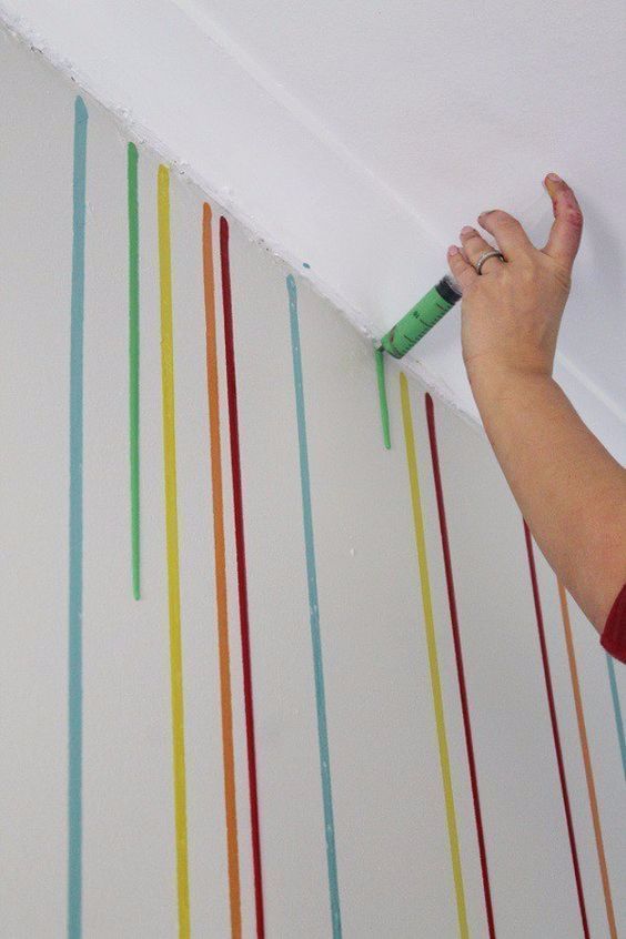 DIY Ideas For Painting Walls   Drippy Wall   Cool Ways To Paint Walls    Techniques, Tips, Stencils, Tutorials, Fun Colors And Creative Designs For  Living ...